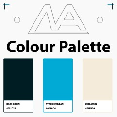 Museum Colour Palette (Light Blue Accent)